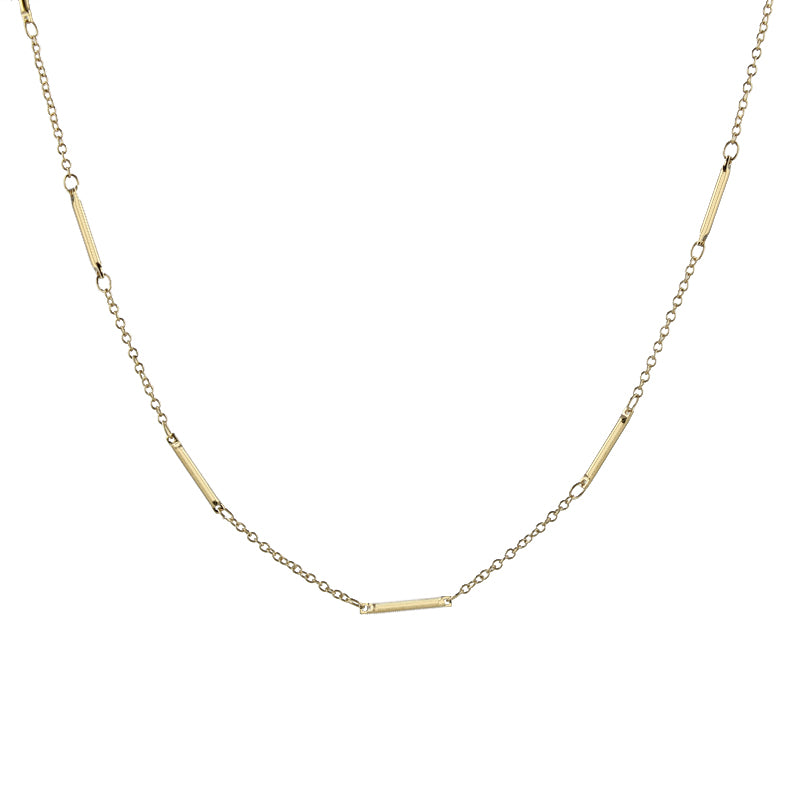 Bar and Link Chain Necklace