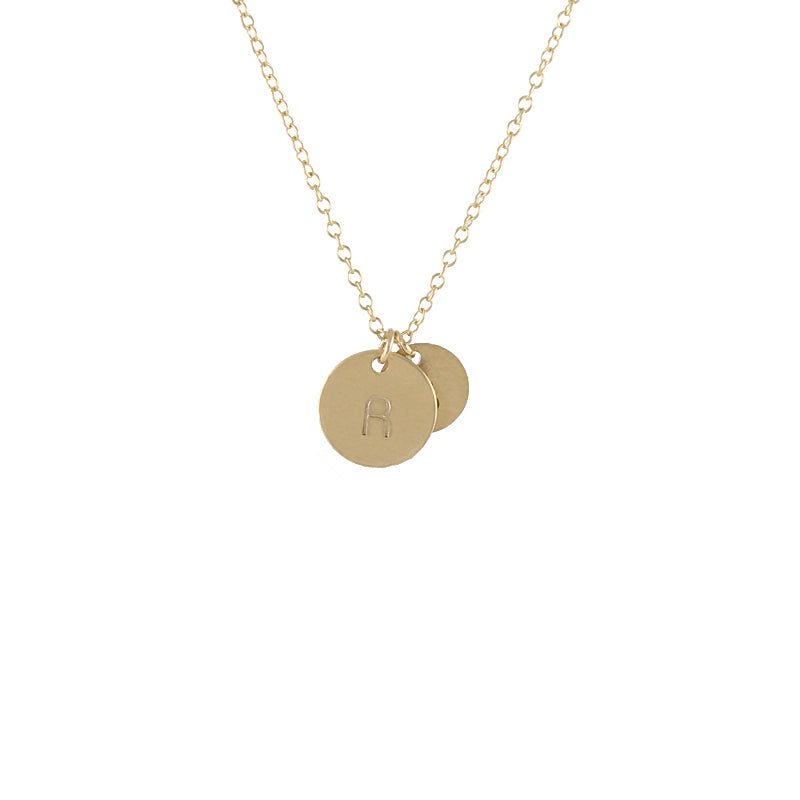Bauhaus  Initial Necklace - Gold