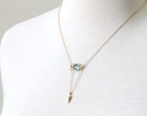 Blue Point Necklace by Peggy Li
