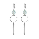 Blue Quartz Bar Earrings