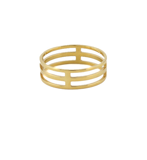 Cage Ring gold plate
