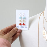 California Girl Earrings with carnelian