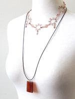 Willow red stone necklace