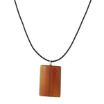 Carnelian Rectangle Necklace