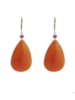 Large Carnelian Teardrop Earrings