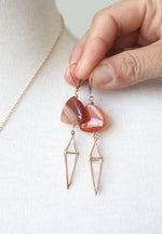 Carnelian Cage Earrings