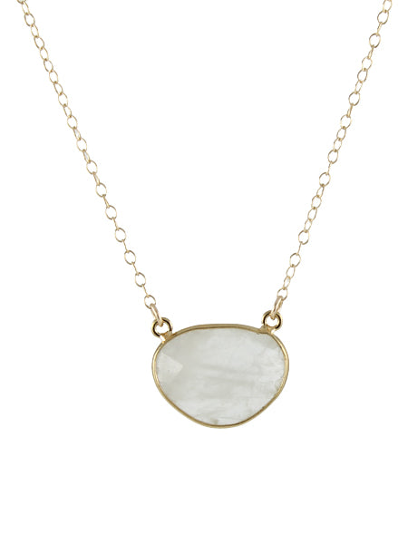 Gem Drop Necklace - moonstone