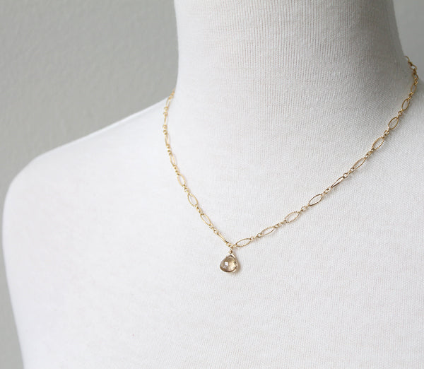 Champagne Citrine Necklace by Peggy Li Creations