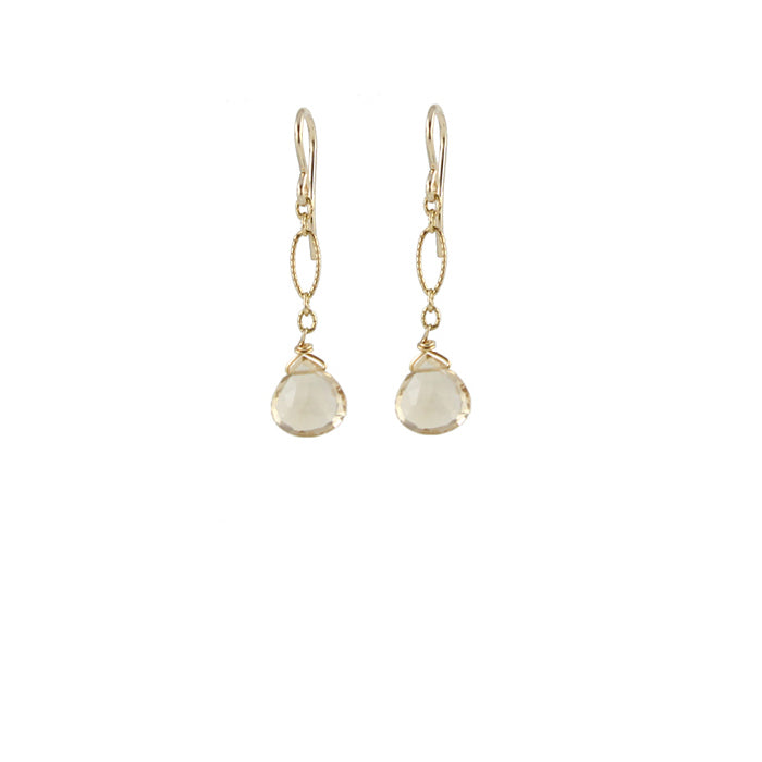 Champagne Citrine Earrings