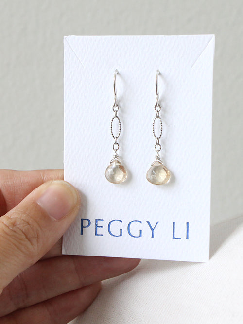 Champagne Citrine Earrings by Peggy Li Creations