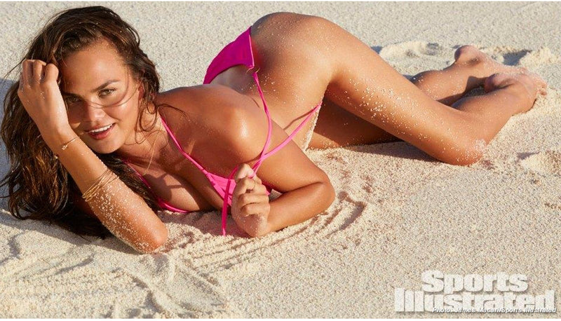 Chrissy Teigen wearing Twisted Bangle Bracelets in Sports Illustrated Swimsuit