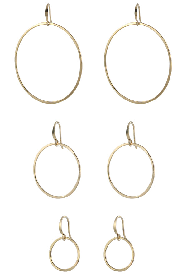 Slim Circle Earrings