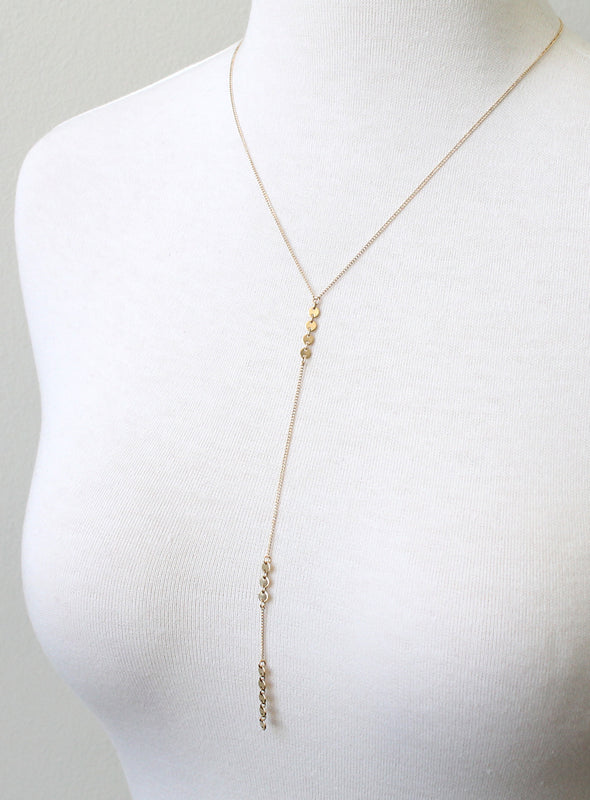 Slim Lariat Necklace by Peggy Li Creations
