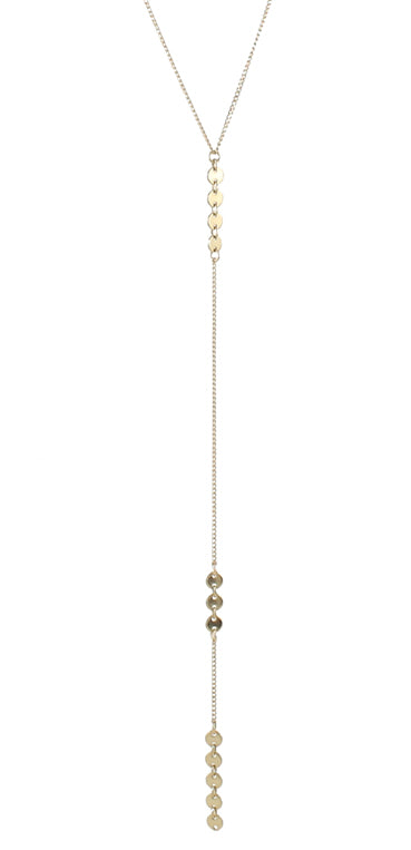 Slim lariat necklace