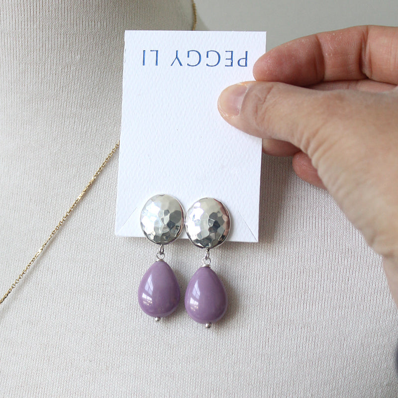 Kat The Bold Type purple earrings
