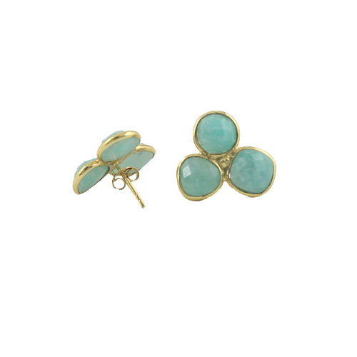 Amazonite Cluster Earrings