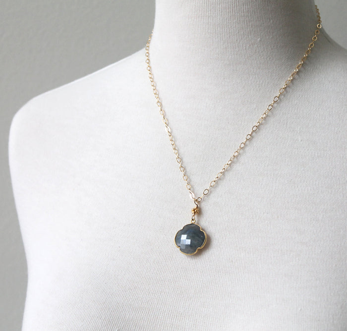 Labradorite gem necklace by Peggy Li