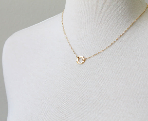 Clustered Circle Necklace, gold