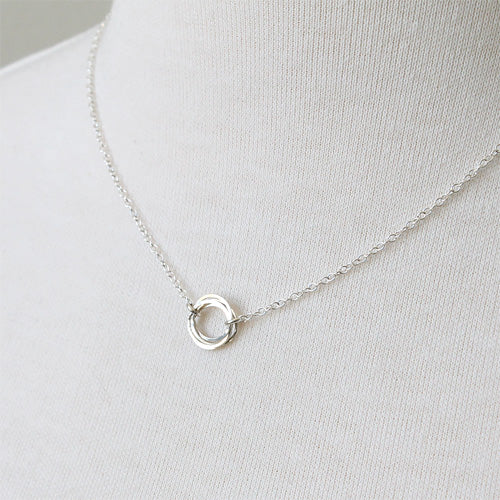 Clustered Circle Necklace, silver