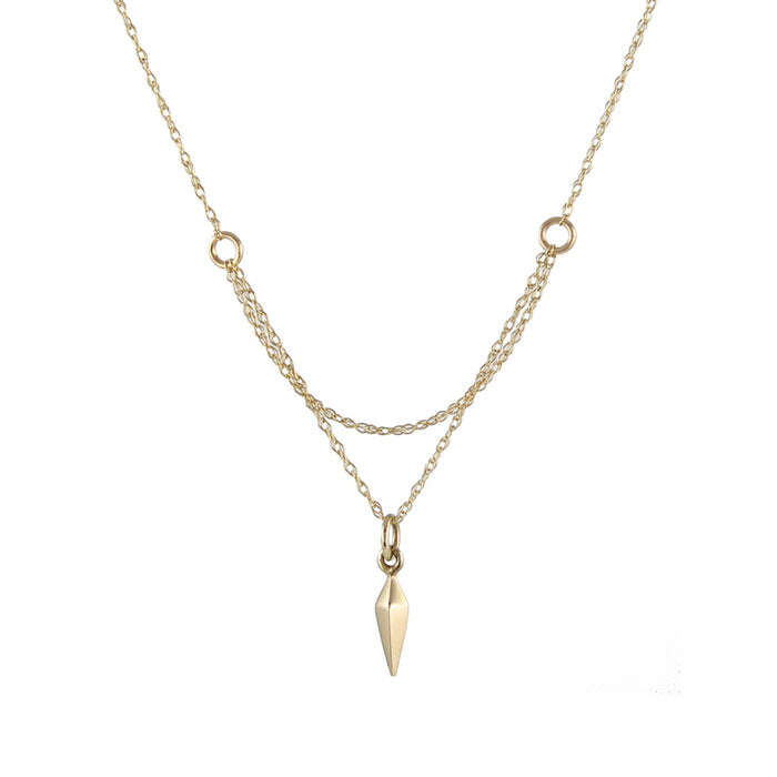 Cobweb Necklace, gold