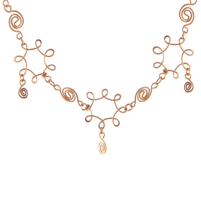 Copper Swirl Necklace - seen on Willow on BTVS