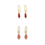Coral Droplet Earrings