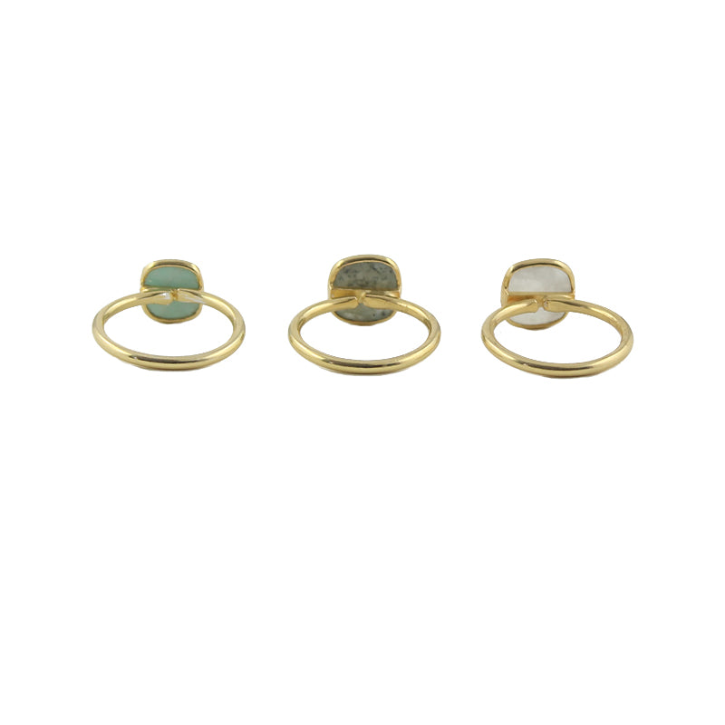 Adjustable gemstone rings