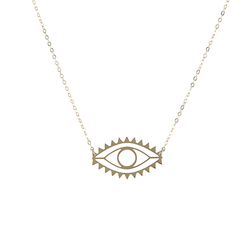 Evil Eye Cutout Necklace