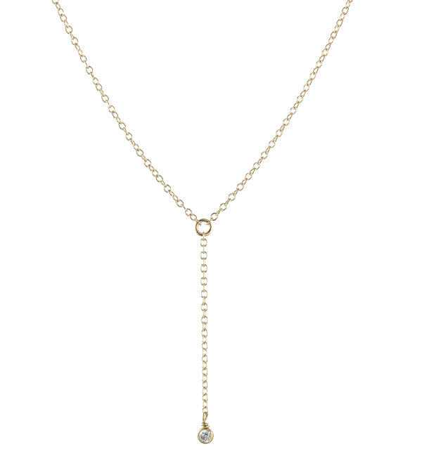 Dainty Gemstone Y Necklace