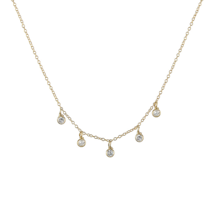 CZ Raindrops Necklace