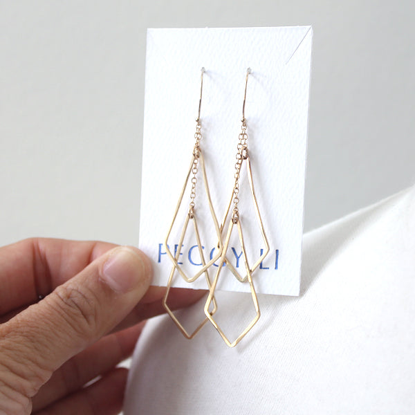 Diamond Shape Chime Earrings