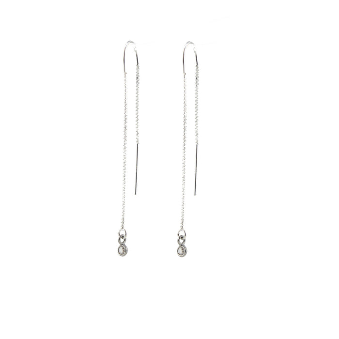 Diamond Ear Thread Earrings