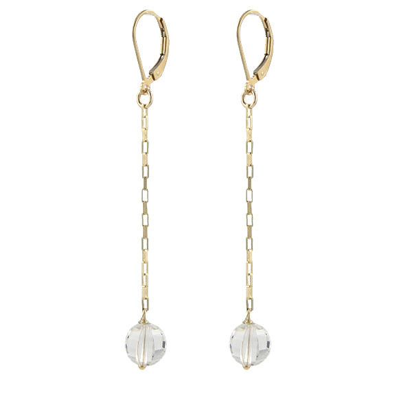 Disco Quartz Earrings