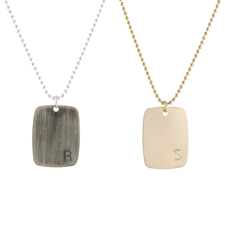 Bauhaus Dogtag Necklace by Peggy Li