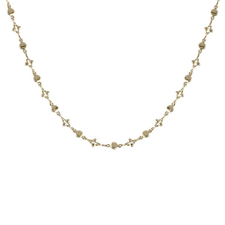XOXO Beaded Chain Necklace