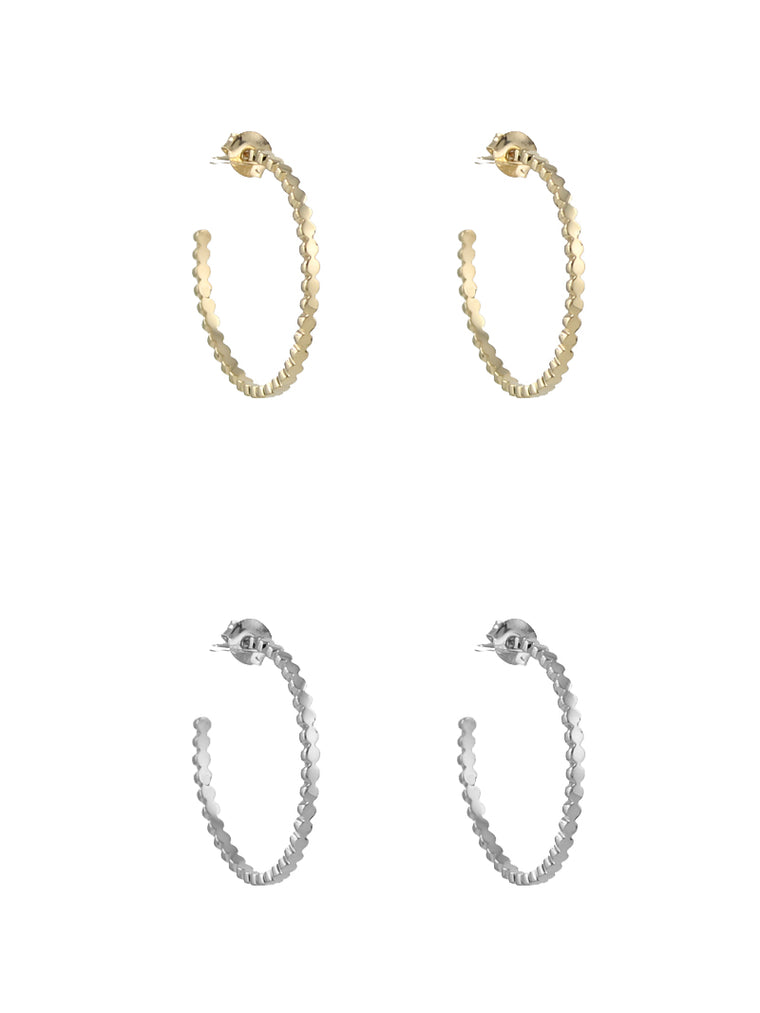 Dotted Hoop Earrings