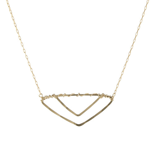 Double Vee Necklace