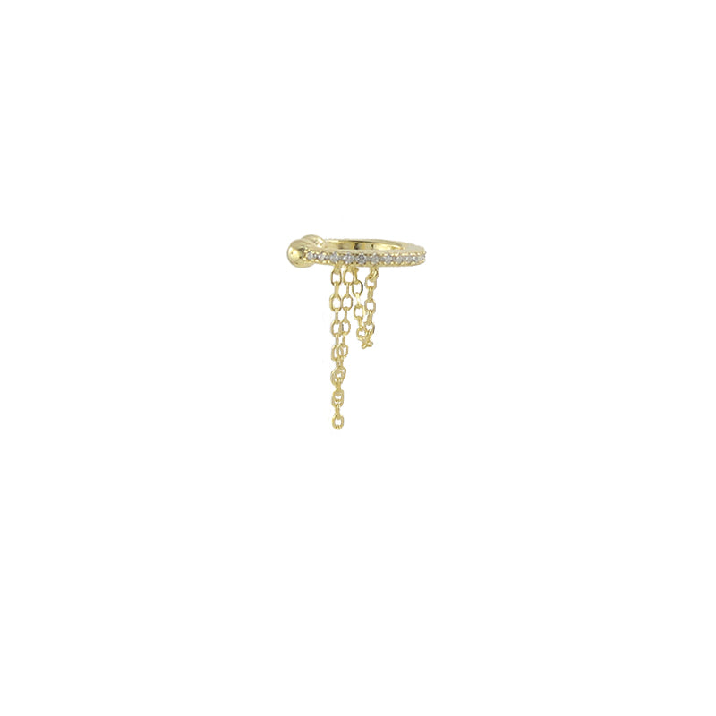 Draped Chain Earcuff
