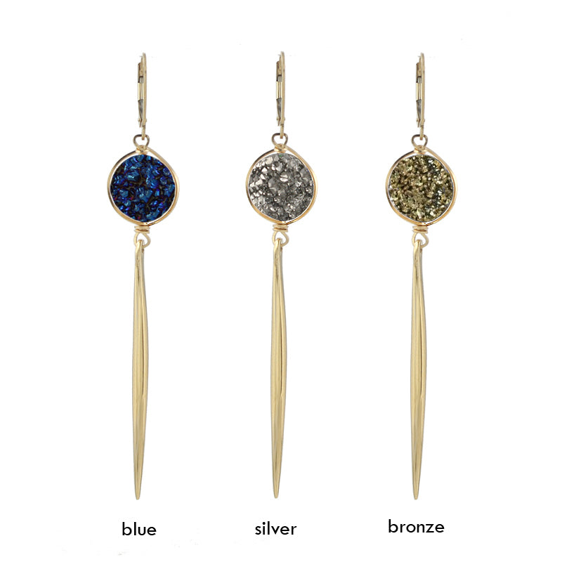 Druzy Spike Earrings colors