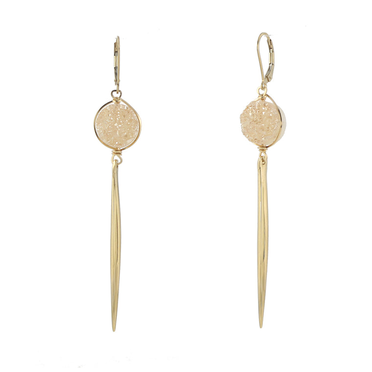 Druzy Spike Earrings