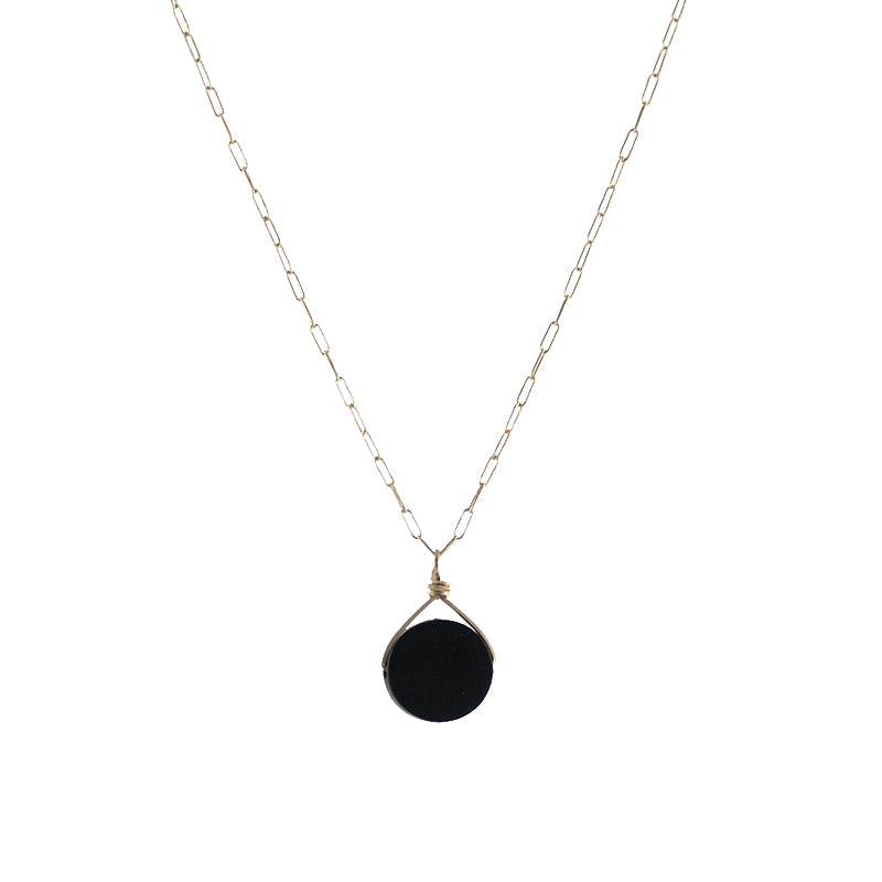 Tiger Ebony Disc Necklace