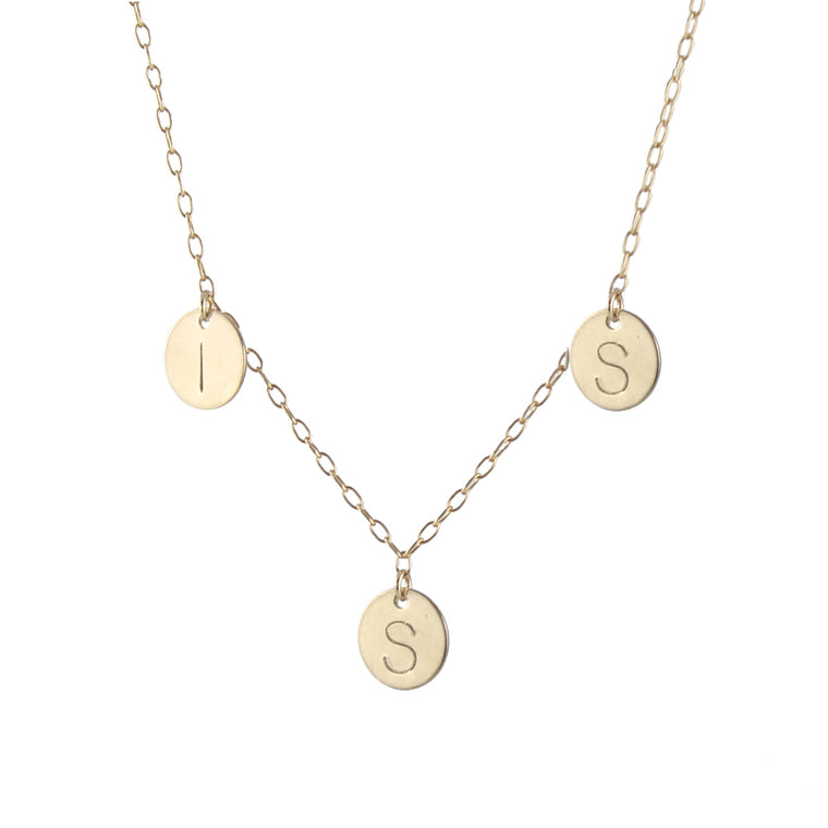 Family Initial Necklace - Gold