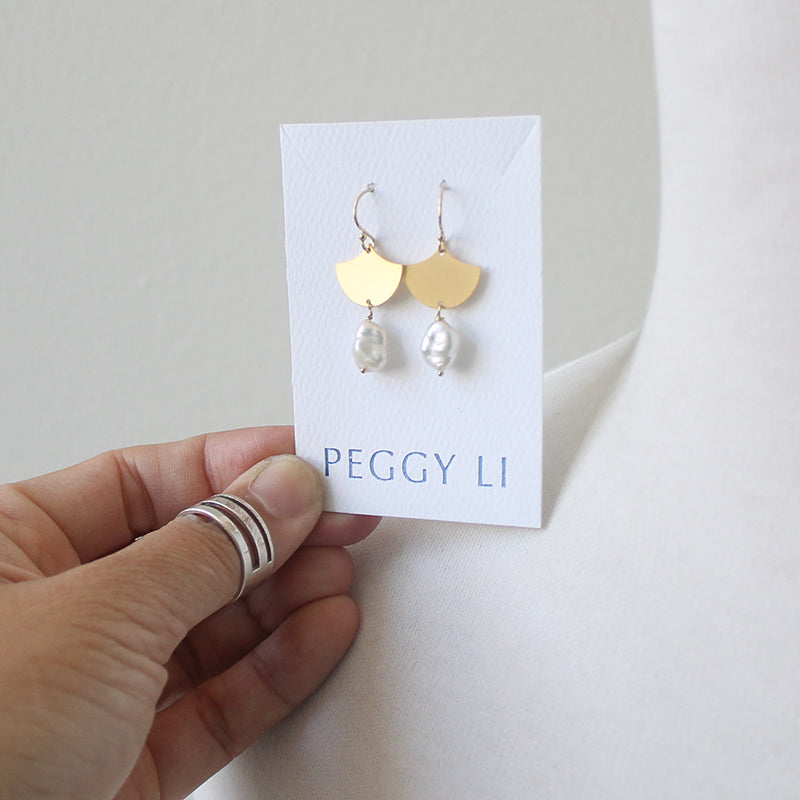 Fan Pearl Earrings seen on Sweet Magnolias