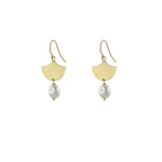 Fan Pearl Earrings