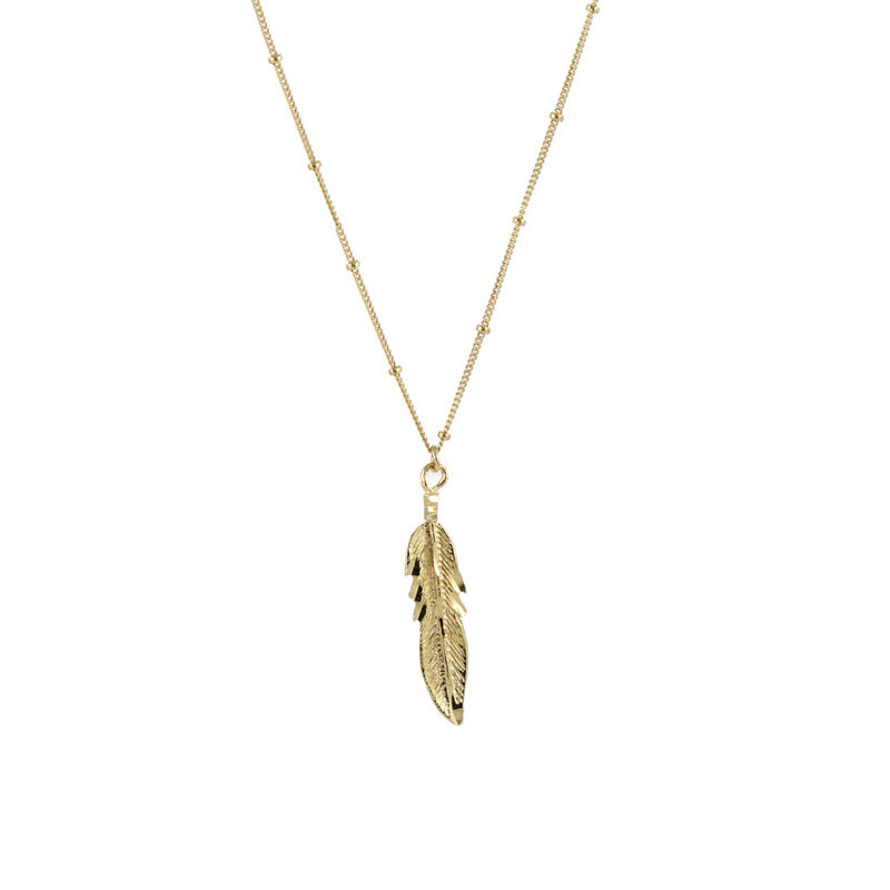 Eagle Feather Charm Necklace