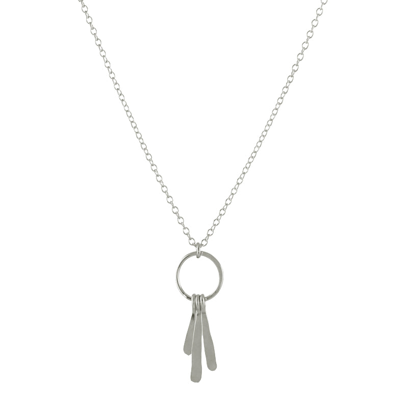 Flirty Fringe Necklace, silver