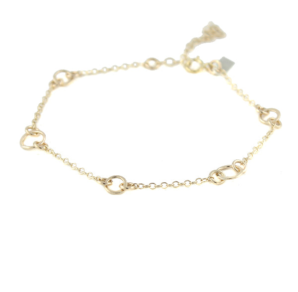 Dainty gold Floating Circles Bracelet