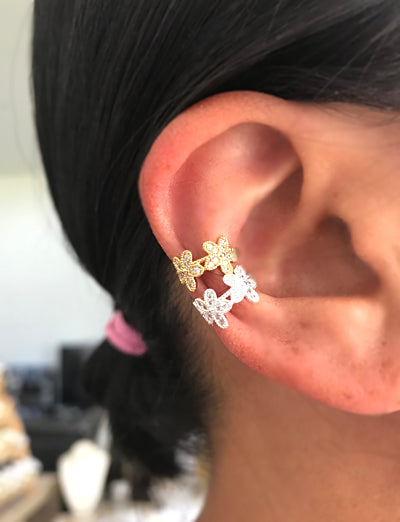 Floral Lace Ear Cuff