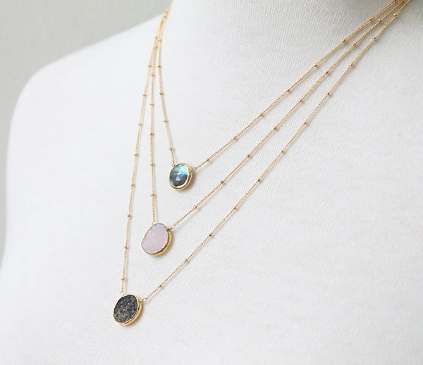 Framed Gem Necklaces