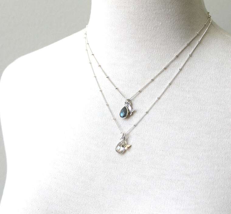 Teardrop Gemstone Necklace colors